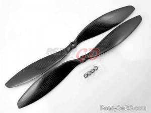 "11"" 1147 full Carbon Fiber propeller CW/CCW for Multicopter 2 pairs"